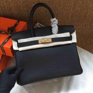 Hermès Genuine Togo Leather Birkin inspired